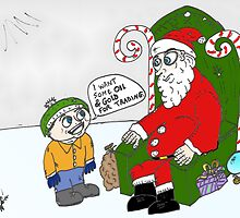 Boy wants oil and gold for Christmas by Binary-Options