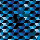 Blue Geometric Pattern by modernistdesign