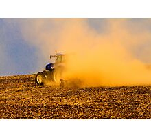 Spring Tilling on the Farm Photographic Print