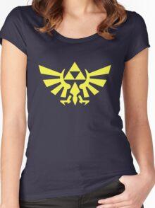 Zelda - Triforce (Yellow) Women's Fitted Scoop T-Shirt