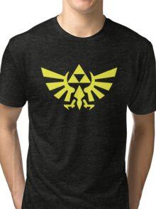 Zelda - Triforce (Yellow) Tri-blend T-Shirt