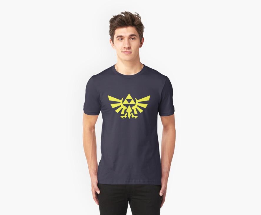 Zelda - Triforce (Yellow) by JuliaJean1