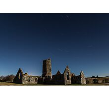 Star trails at  Kilkrea Friary  Photographic Print