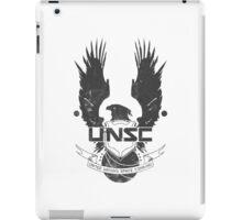 UNSC Logo Grey iPad Case/Skin