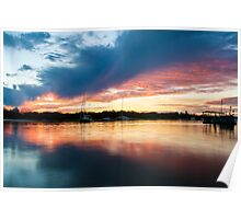 Mirror Sunset Poster