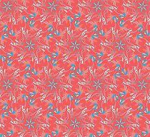 Coral & Aqua Florals by designzbyjamz