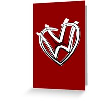 VW heart logo in a painted style Greeting Card