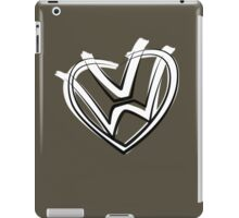 VW heart logo in a painted style iPad Case/Skin