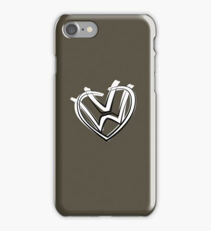 VW heart logo in a painted style iPhone Case/Skin