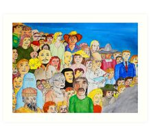 The day the world united as one Art Print