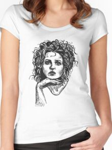 Icon: Helena Bonham Carter Women's Fitted Scoop T-Shirt