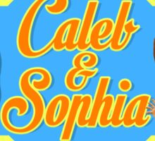 Caleb & Sophia (For Him) Sticker
