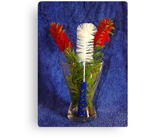 Brush off bouquet. Canvas Print