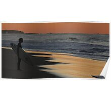 Surfer, Caves Beach NSW Poster