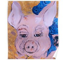 Blue Ribbon Pig Poster