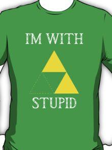 Triforce - I'm with stupid (B) T-Shirt