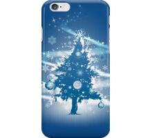 Festive Christmas Case - Blue Decorative Christmas Tree iPhone Case/Skin