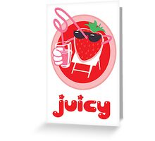 Juicy Strawberry! Greeting Card
