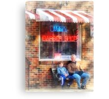 Neighborhood Barber Shop Canvas Print