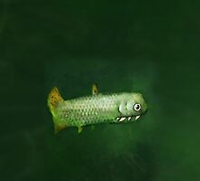 Painting of a tiny but deadly fish by astralsid