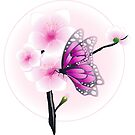 Joy Of Spring Case - Spring Blossom & Pink Butterfly by ruxique