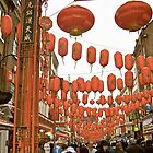 Red Lanterns in Chinatown by magicaltrails