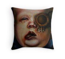 Monsanto monster Throw Pillow