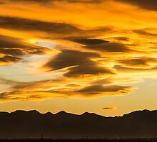 Sunset From The Planet Of Golden Dreams by Gregory J Summers