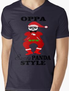 ★ټOppa Santa-Panda Style Hilarious Clothing & Stickersټ★ Mens V-Neck T-Shirt