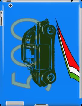 FIAT 500 I-PAD CASE  by karmadesigner