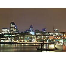 City of London over the Thames, England, UK Photographic Print