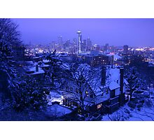 Christmas in Seattle Photographic Print