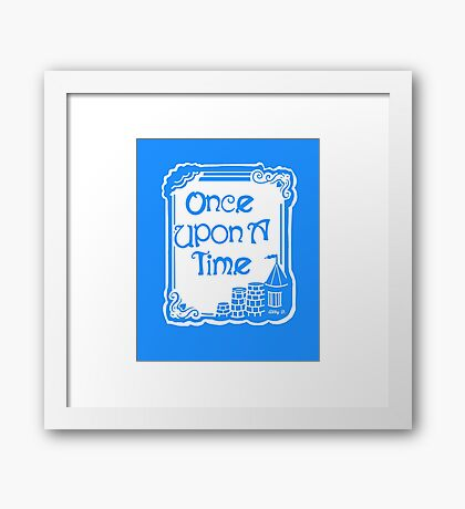 Once Upon A Time in Blue Framed Print