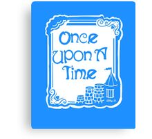 Once Upon A Time in Blue Canvas Print