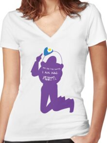 Not Buzz Women's Fitted V-Neck T-Shirt