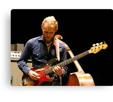 Chris Wood on the Fender Canvas Print