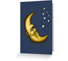 The banana moon puffs out the evening stars Greeting Card