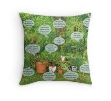 Houseplants Interpreted Throw Pillow