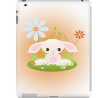 Little Pink Baby Bunny With Flowers iPad Case/Skin
