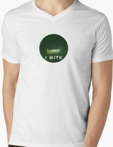 I bite with a deadly toothed fish Mens V-Neck T-Shirt