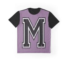 Big Varsity Letter M Graphic T-Shirt