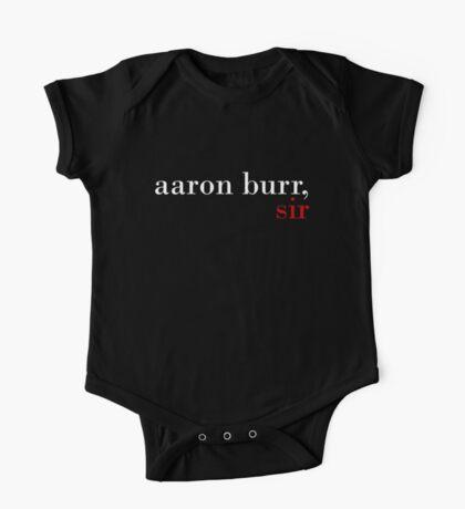 Aaron Burr, Sir - Black BG One Piece - Short Sleeve