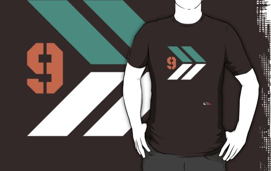 Arrows 1 - Emerald Green/Orange/White by 9thDesignRgmt