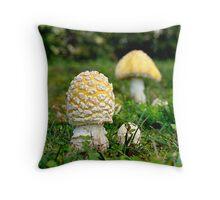 Shroom Family Picnic Throw Pillow