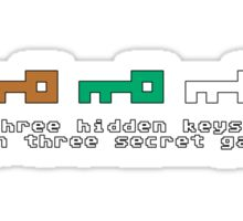 Three Hidden Keys Sticker