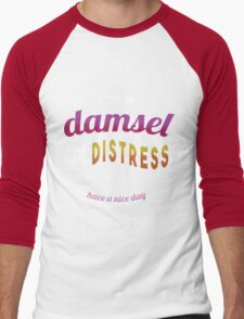 Damsel in Distress Men's Baseball ¾ T-Shirt