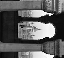 Parliament through an Arch by BH Neely