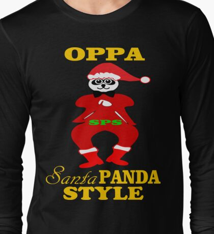 ★ټOppa Santa-Panda Style Hilarious Clothing & Stickersټ★ Long Sleeve T-Shirt