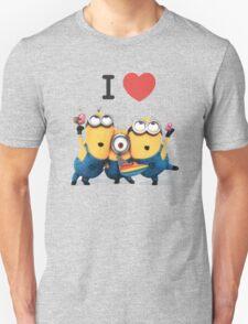 Funny I LOVE MINIONS T-Shirt