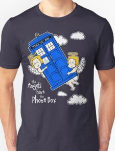 The Angels have the Phone Box - Version 4 (for dark tees / white outlines)  T-Shirt